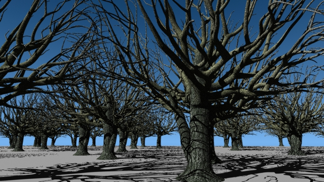 Trees instanced